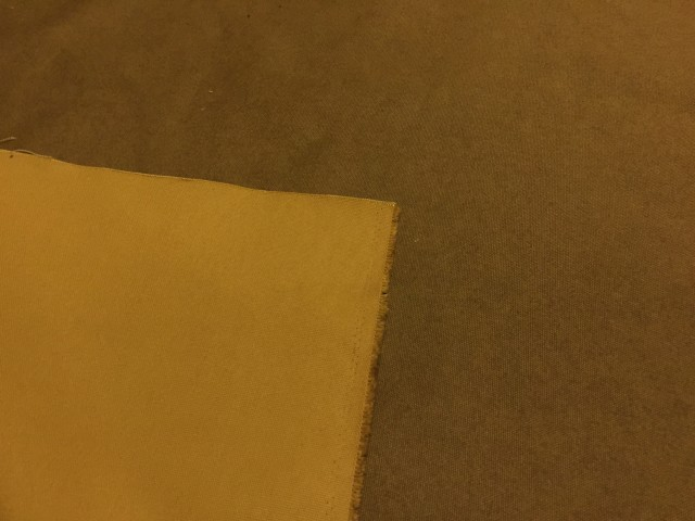 帆布(ハンプ)黄土色 8号 生地 布 綿100% コットン 日本製